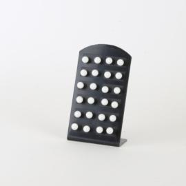 Kolczyki na peletce 12szt - białe kulki - EA3363