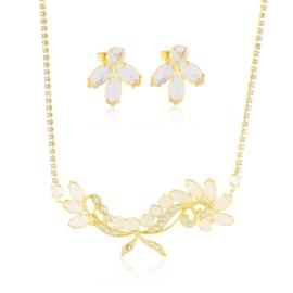 Komplet kryształy w złotej oprawie 53/88 - KOM268