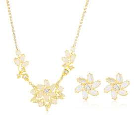 Komplet kryształy w złotej oprawie 53/88 - KOM269
