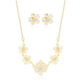 Komplet kryształy w złotej oprawie 53/87 - KOM270