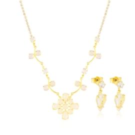 Komplet kryształy w złotej oprawie 53/86 - KOM271