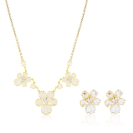 Komplet kryształy w złotej oprawie 53/119 - KOM272