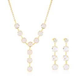 Komplet kryształy w złotej oprawie 53/216 - KOM274