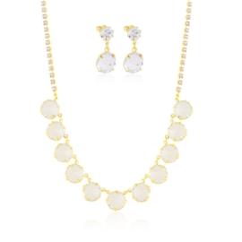 Komplet kryształy w złotej oprawie 53/172 - KOM276