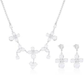 Komplet ślubny kwiaty - kryształy 53/215 - KOM277