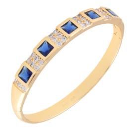 Bransoletka sztywna - niebieska -Xuping BP6805