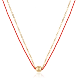 Naszyjnik z czerwonym sznurkiem - Xuping CP4026