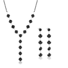 Komplet wieczorowy czarne kryształy 53/85 KOM284