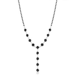 Komplet wieczorowy czarne kryształy 53/215 KOM285