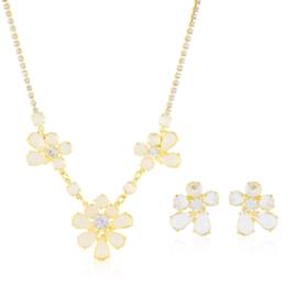 Komplet kryształy w złotej oprawie 53/86 KOM288