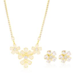 Komplet kryształy w złotej oprawie 53/119 KOM289
