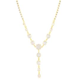 Naszyjnik krawatka kryształy 63/34 - NA1829