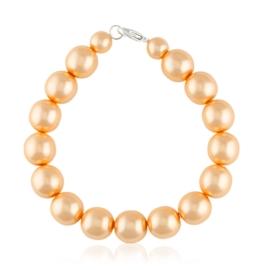 Bransoletka perła łososiowa 1,2cm 43/66 BRA2810