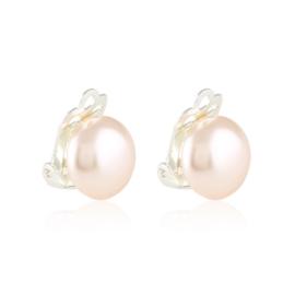 Klipsy perła różowa 1,2cm 43/107 EA3399