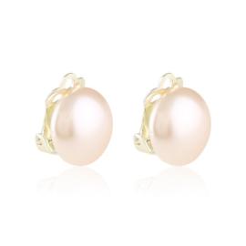 Klipsy perła różowa 1,4cm 43/106 EA3400