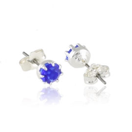 Kolczyki niebieski kryształ 0,6cm 53/110 EA3404