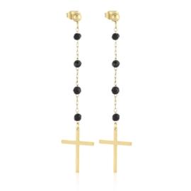 Kolczyki stal - krzyżyk - Xuping EP14353