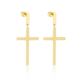 Kolczyki stal - krzyżyki - Xuping EP14355