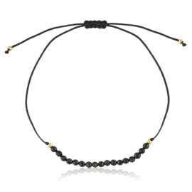 Bransoletka sznurek z koralikami - Lisha BP6885