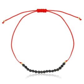 Bransoletka sznurek z koralikami - Lisha BP6886