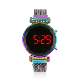 Zegarek LED kameleon kryształki - magnetyczny Z172