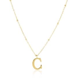 Naszyjnik stal z literką - C - Moonriver CP4115
