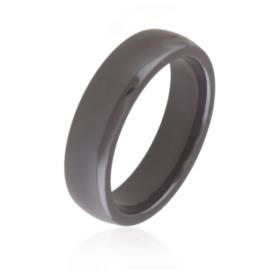 Obrączka ceramiczna 6mm - szara - Xuping PP2857