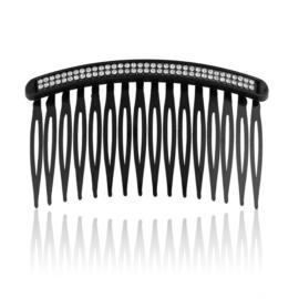 Grzebyk z kryształkami black 12szt. - 8,5cm - G90