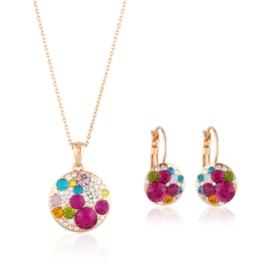 Komplet biżuterii z kamieniami PK542