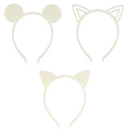 Opaski perełkowe z uszkami OPS694