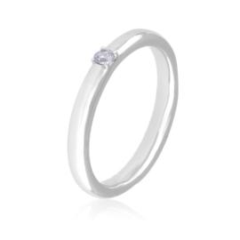 Obrączka z kryształkiem - Xuping PP2890