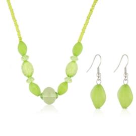 Komplet biżuterii sztucznej - green KOM305