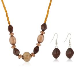Komplet biżuterii sztucznej - brown KOM306
