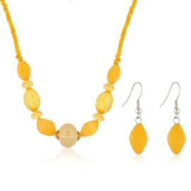 Komplet biżuterii sztucznej - orange KOM307
