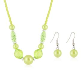 Komplet biżuterii sztucznej - green KOM309