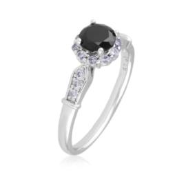 Pierścionek z czarnym oczkiem - Xuping PP2895