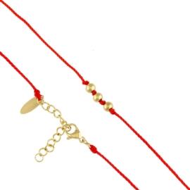 Bransoletka - czerwony sznurek - Blueberry BP7120
