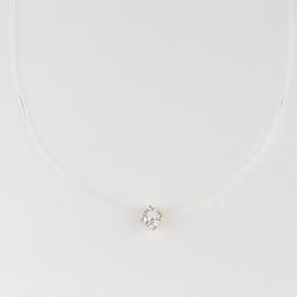 Naszyjnik - żyłka z kryształkiem - Xuping CP4368