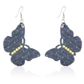 Kolczyki wiszące motylki EA3428