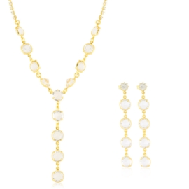 Komplet biżuterii - kryształy czeskie - KOM313