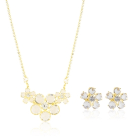 Komplet biżuterii - kryształy czeskie - KOM314