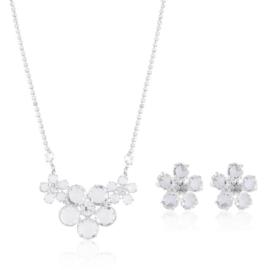 Komplet biżuterii - kryształy czeskie - KOM315