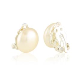 Klipsy perła czeska ecru 1,2cm EA3479