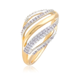 Pierścionek z kryształkami - Xuping PP2914