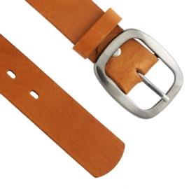 Pasek damski skórzany brązowy - BL126