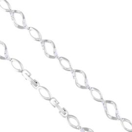 Bransoletka codzienna z kryształkami Xuping BP7228