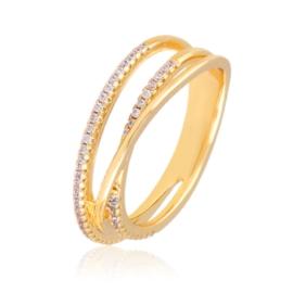 Pierścionek z kryształkami - Xuping PP2916