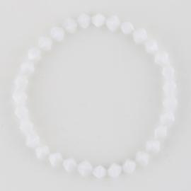 Bransoletka perła szlifowana biała BRA2931