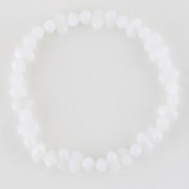 Bransoletka perła szlifowana biała BRA2933