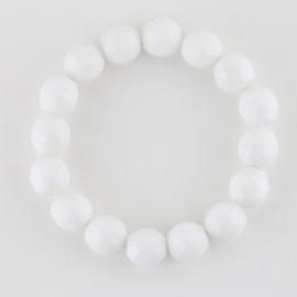 Bransoletka perła szlifowana biała BRA2936